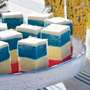 Red, White, and Blue Layer CakeRecipe