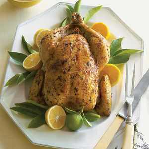 Roast Chicken with Meyer Lemon Shallot SauceRecipe