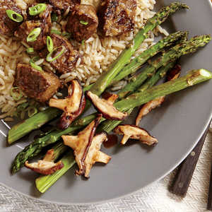 Roasted Asparagus and Shiitake MushroomsRecipe