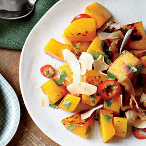 Roasted Butternut Squash with Coconut and ChileRecipe