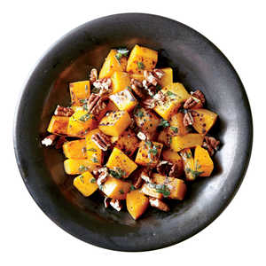 Roasted Butternut Squash with Pecans and SageRecipe