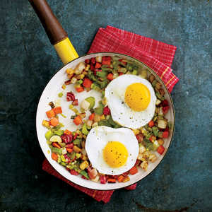 Root Vegetable Hash with Fried Eggs Recipe