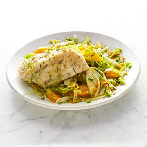 Sablefish with Savoy Cabbage and Fennel SlawRecipe