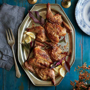 Sage and Garlic-Rubbed Cornish Hens Recipe