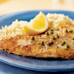 Sautéed Tilapia with Lemon-Peppercorn Pan Sauce Recipe