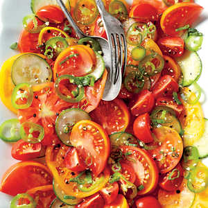 Sesame, Tomato, and Cucumber SaladRecipe