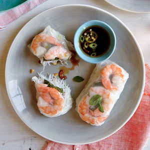 Shrimp Summer Rolls with Sesame-Soy Dipping SauceRecipe