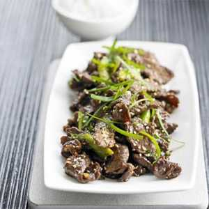 Sizzling Korean-Style Beef with Sesame SeedsRecipe