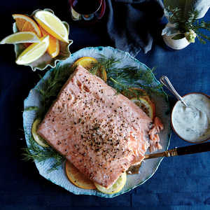 Slow-Roasted Salmon with Dill CreamRecipe