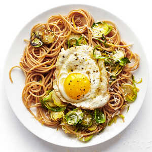 Spaghetti with Brussels Sprouts Recipe