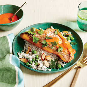 Spanish-Style Snapper with Roasted Red Pepper SauceRecipe