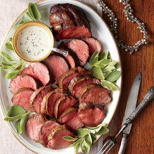 Spice-Rubbed Tenderloin with Mustard-Cream SauceRecipe