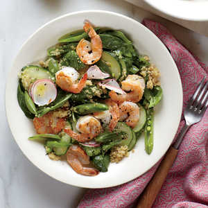 Spinach and Quinoa Salad with Shrimp Recipe
