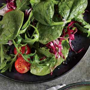 Spinach and Radicchio Salad with Lemon Vinaigrette Recipe