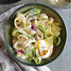 Squash Ribbon Pasta with Herb Cream SauceRecipe
