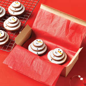 Stacked Snowman CookiesRecipe