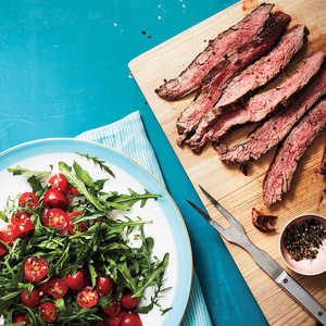 Flank Steak with Arugula and Herbed Tomato SaladRecipe