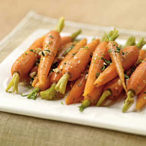 Steamed Carrots with Garlic-Ginger Butter Recipe