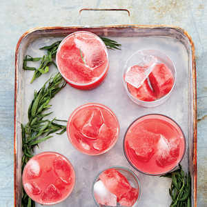 Strawberry and Watermelon Punch with Lime and TarragonRecipe