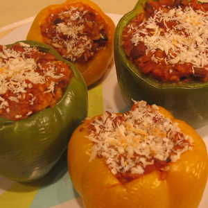 Stuffed Peppers with Ground Beef and RiceRecipe