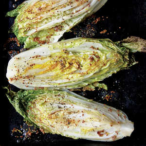 Sweet and Sour Roasted Napa Cabbage WedgesRecipe