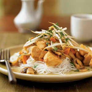 <p>Thai-Style Stir-Fried Chicken</p>