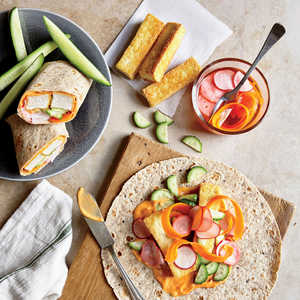 Tofu Banh Mi Wraps with Quick-Pickled Carrots and Radishes Recipe