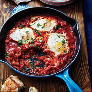 Tomato and Pepper Stew with Eggs Recipe