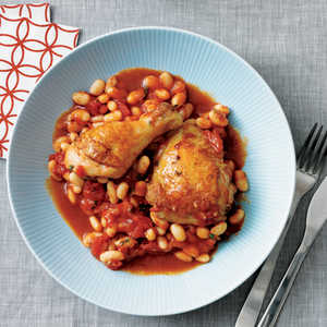 Tuscan Stewed Chicken with White Beans and TomatoRecipe