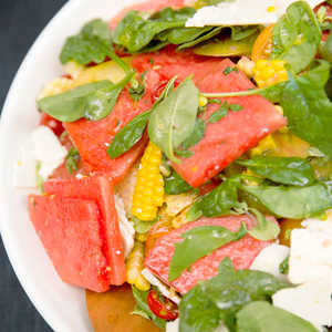 Watermelon, Corn, and Tomato SaladRecipe