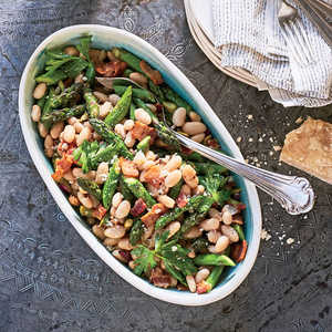 White Bean-Asparagus Salad with Bacon and ThymeRecipe