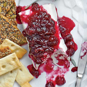 Wine-Spiked Cranberry Cheese Log Recipe