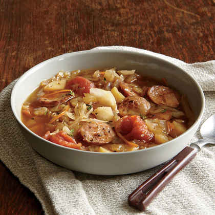 Cabbage Soup with Andouille Sausage