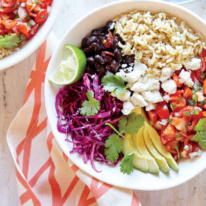 Whole-Grain Veggie Burrito Bowl
