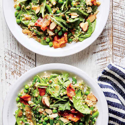 Spring Vegetable and Quinoa Salad with Bacon
