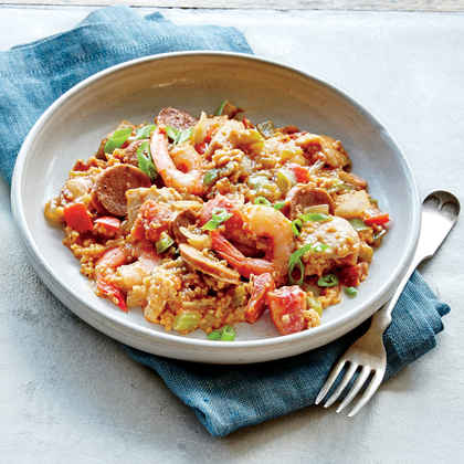 Steel-Cut Oats Jambalaya