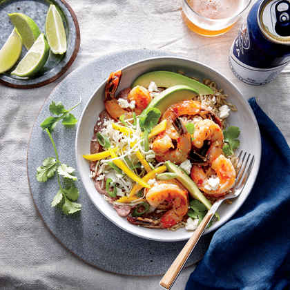 Shrimp and Bean Burrito Bowl