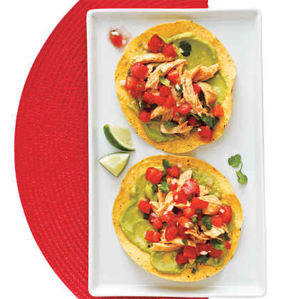 Chicken and Guacamole Tostadas