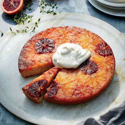 Citrus Upside-Down Cake with Sour Whipped Cream