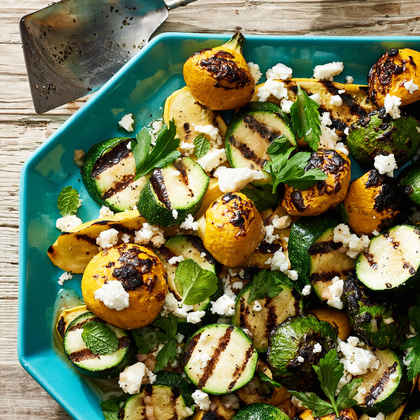 Minty Grilled Summer Squash