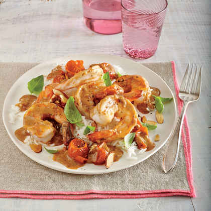 Curried Shrimp and Melted Cherry Tomatoes