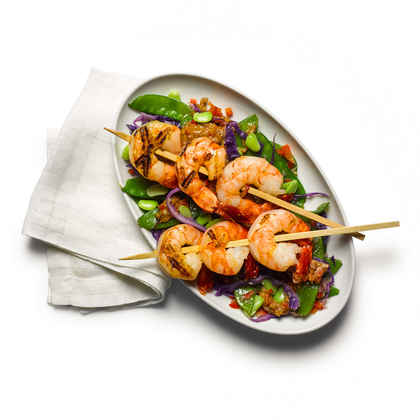 Ginger Shrimp with Almond Sauce