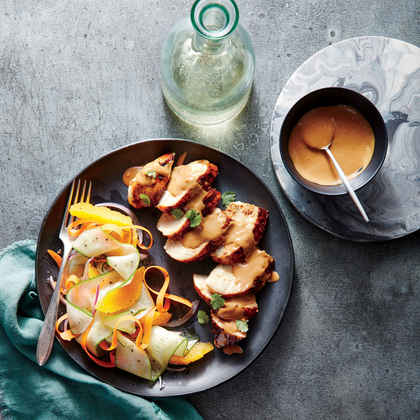 Grilled Chicken Breasts with Satay Sauce
