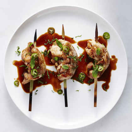 Grilled Chicken with Sweet and Savory Peanut Sauce
