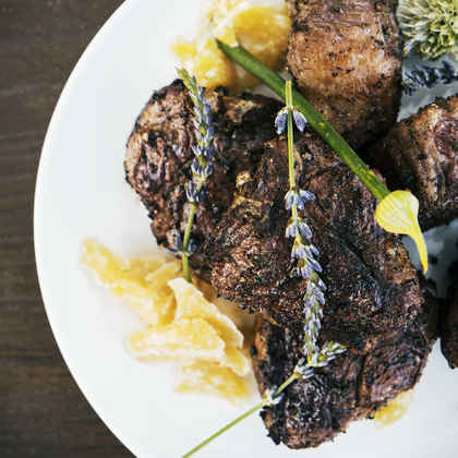 Grilled Lamb T-Bone Steaks