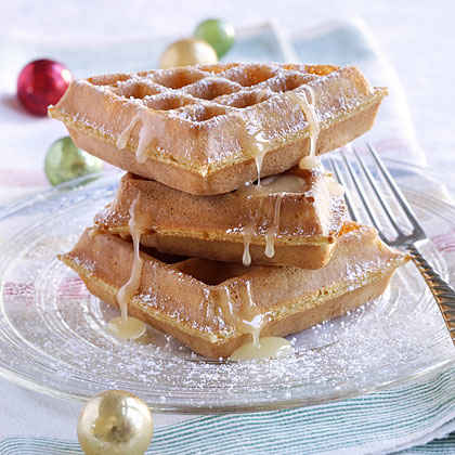 Belgian Waffles with Winter White Honey