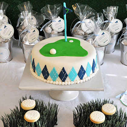 Putting Green Cake