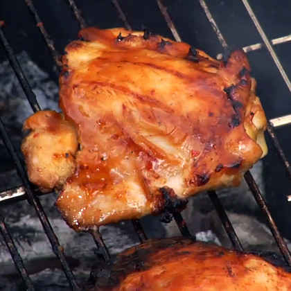 What's the best way to baste food on the grill?