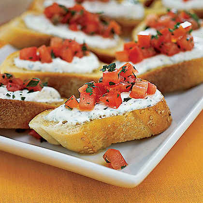 Cheese-and-Tomato Toasts