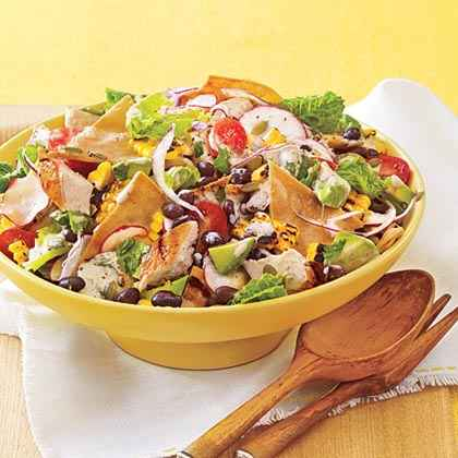 Chopped Chicken Taco Salad with Chipotle Dressing